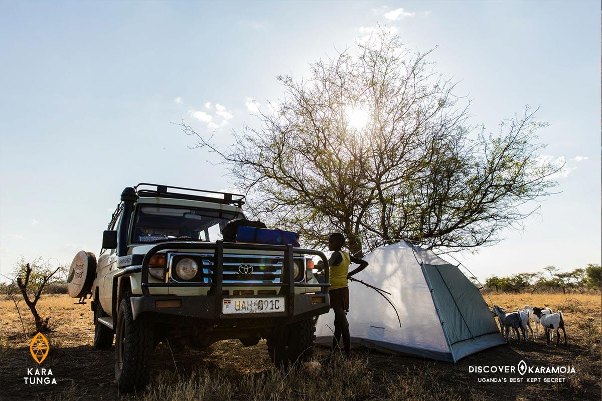 Kara-Tunga Karamoja Turkana Tours Community Travel Uganda Safari Tent Bush