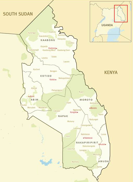 Map of Karamoja, North East Uganda Travel Tours