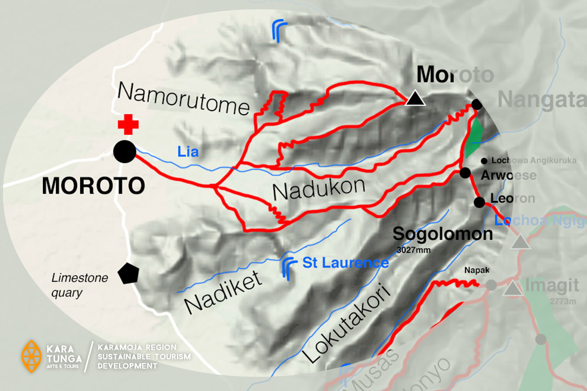 mount moroto trail network