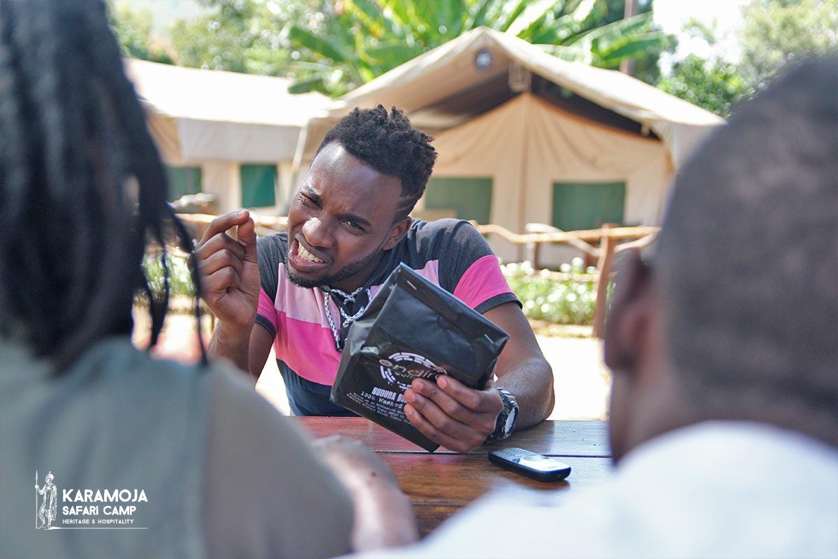 Endiro Coffee training staff Karamoja Safari Camp
