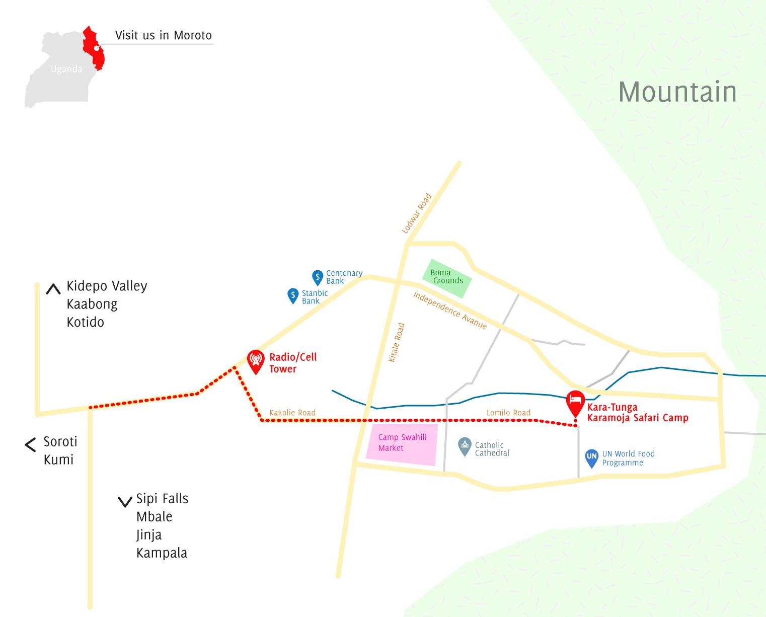 Kara-Tunga-Moroto-Hotel-Map